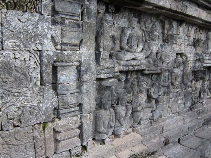 relief on borobudur wall