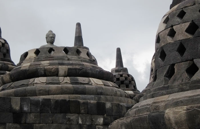 Borobudur, one of Java's most famous attractions