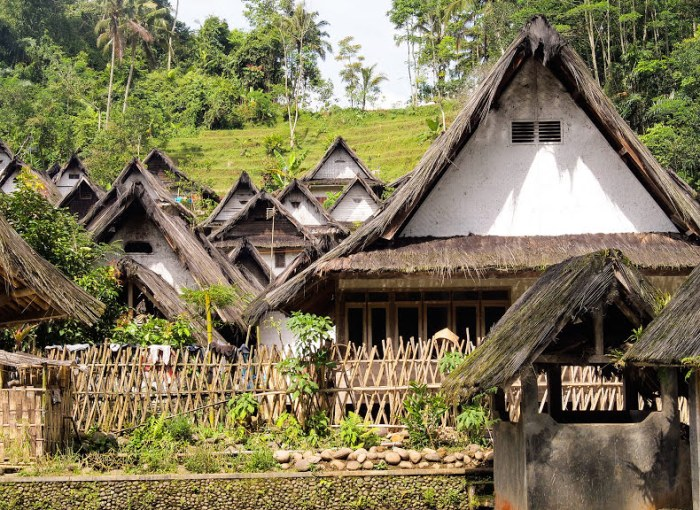 traditional village of Kampung Naga, one of the highlights of Java Island, Indonesia