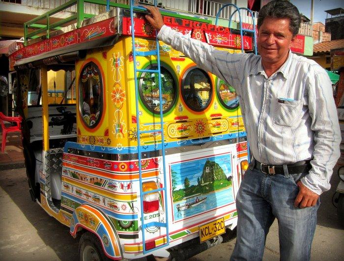 Friendly tuk tuk driver in Guatape