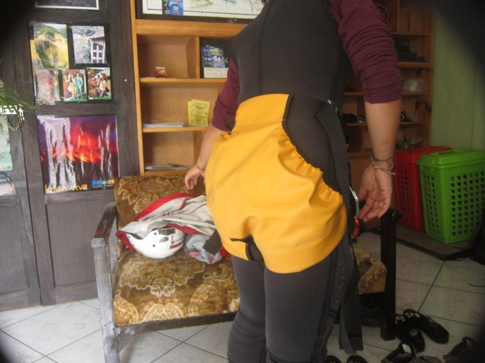 Our diaper/harness for canyoning Rio Blanco