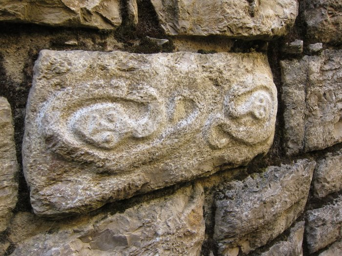Carving on one of the blocks of Huaraz