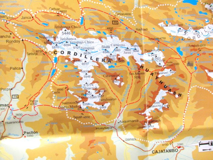 Huayhuash Trek map