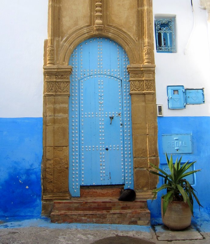 Houses inside Kasbah the Uddaya, Rabat, Morocco