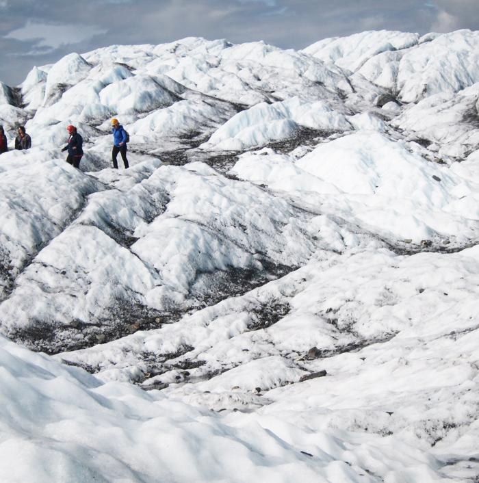 walking on glacier, Matanuska