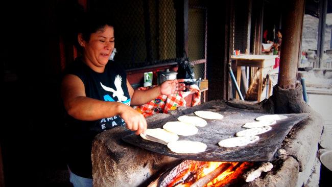 making tortillas in nicaragua