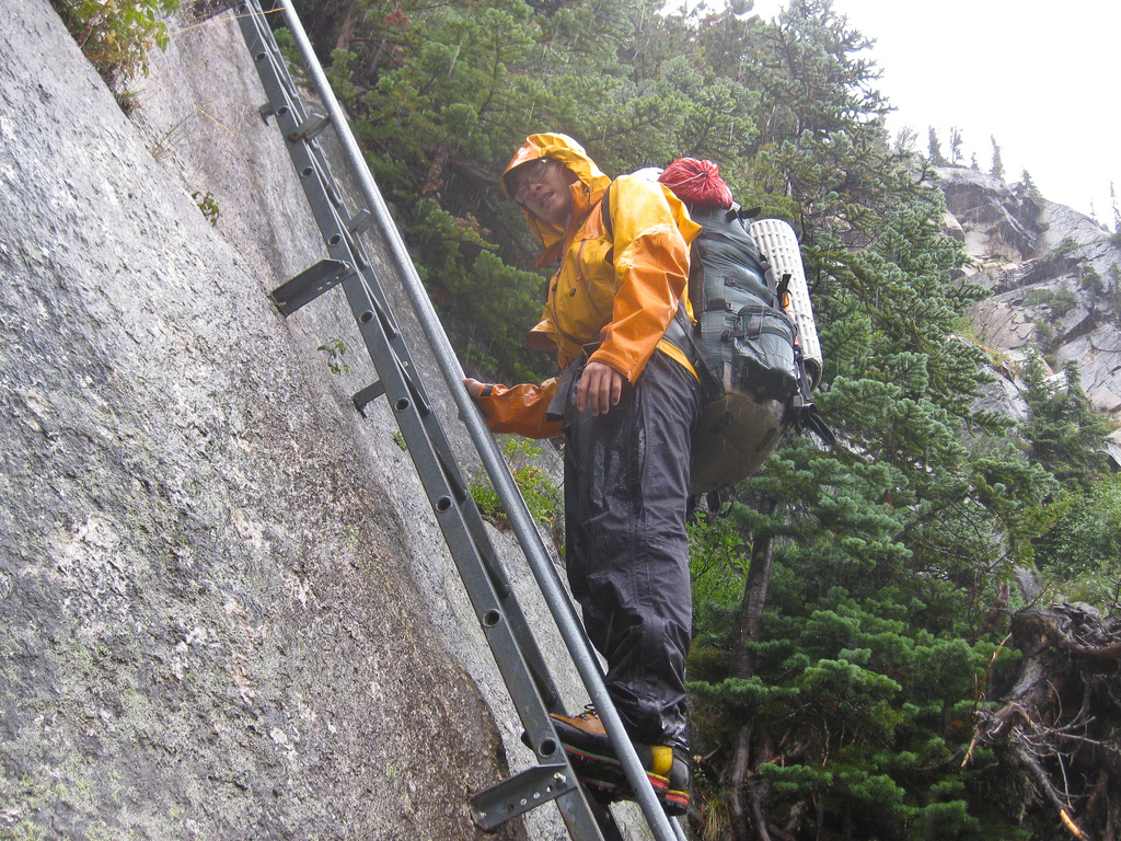 The ladder at Bugaboos
