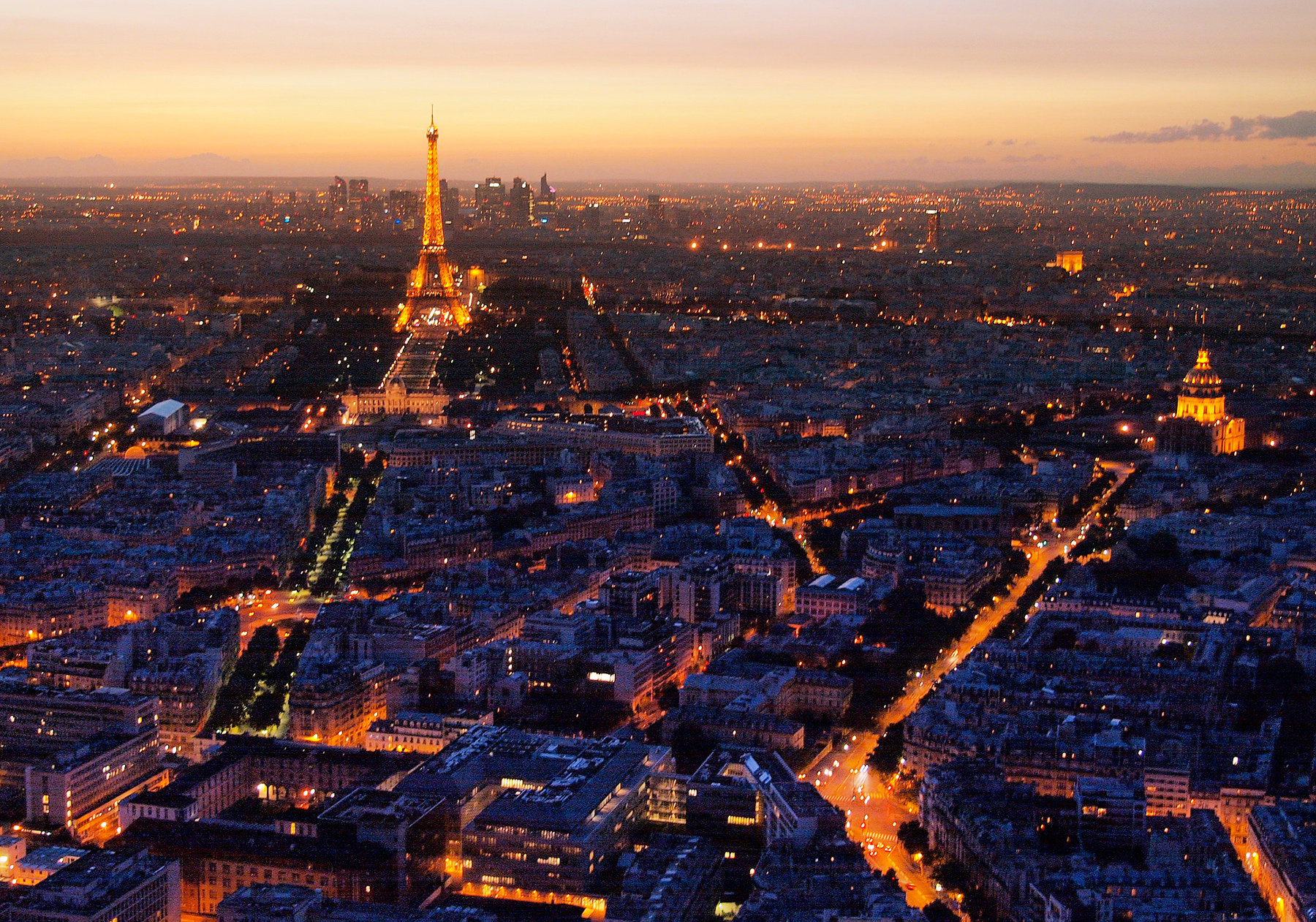 paris from montparnasse tower