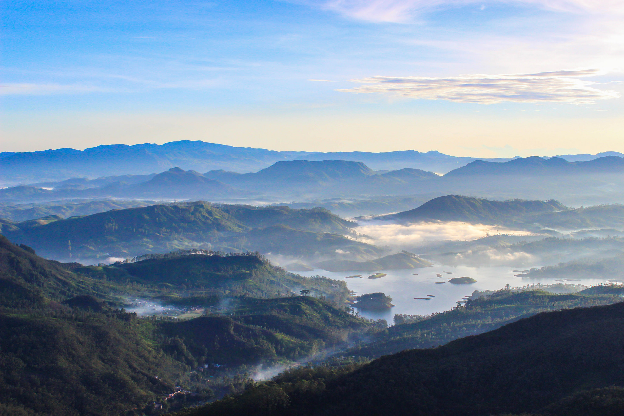 View of the surrounding countryside from Adam's Peak by Jodie Gallagher