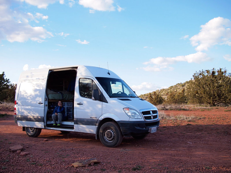Our sprinter van in sedona