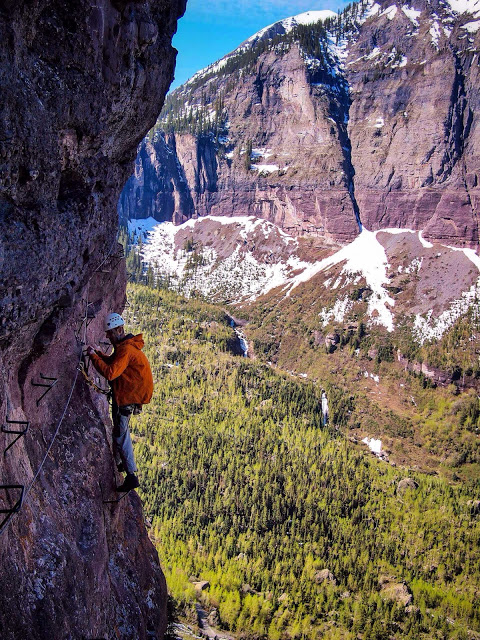 Our First Via Ferrata, Taking the Iron Road in Telluride
