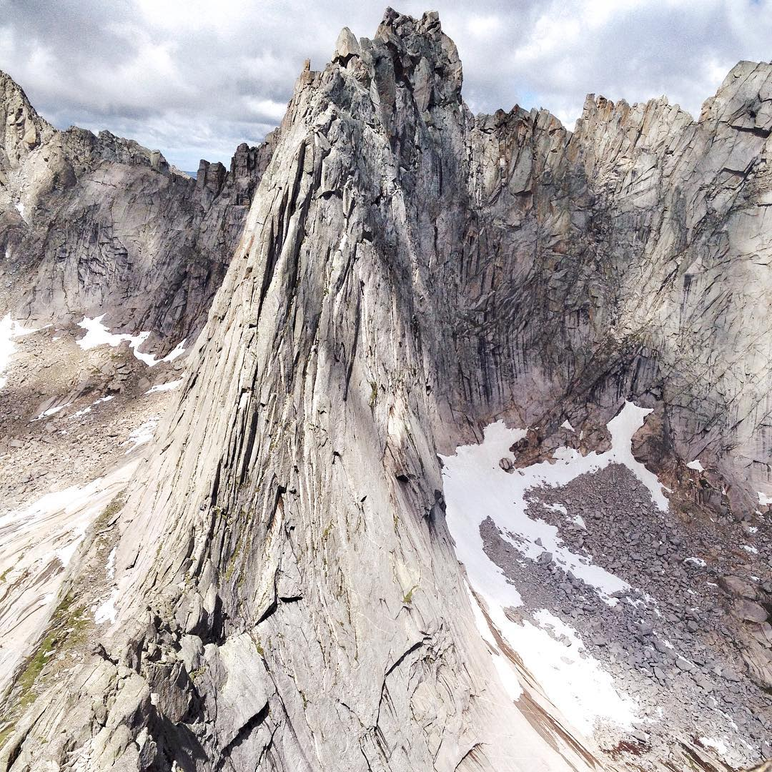 The knife's edge ridge of Wolf Head, Wind River
