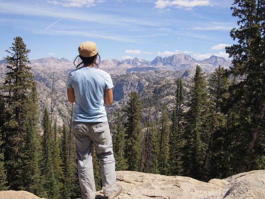 Gazing upon Freemont Peak, our destination.