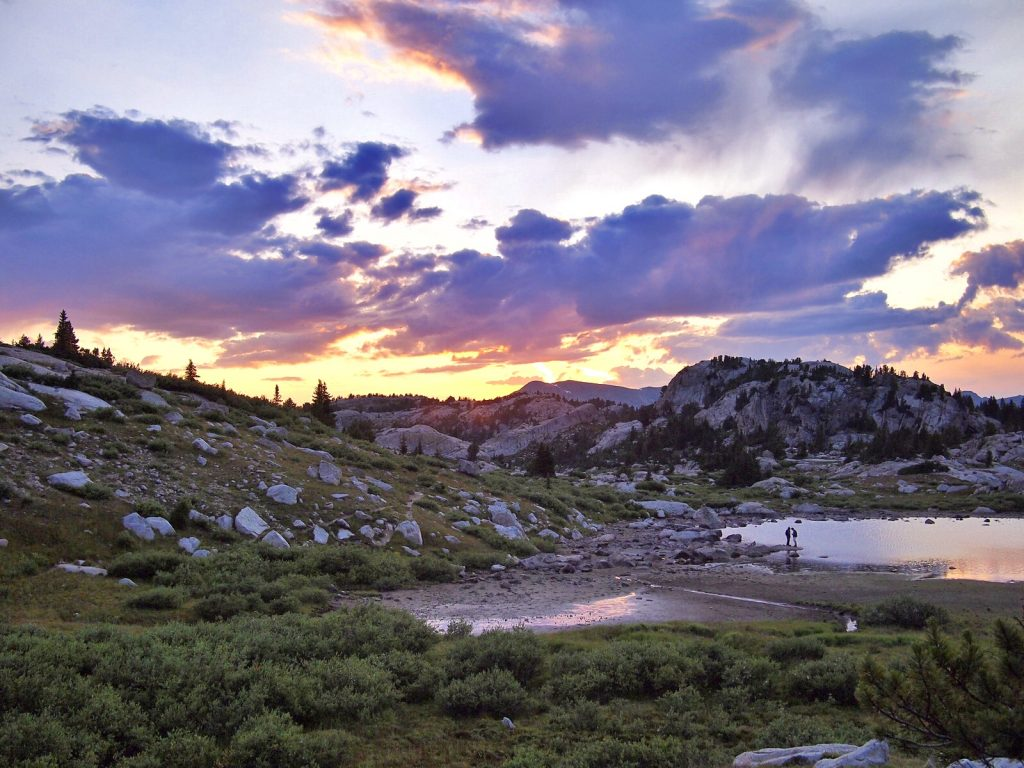 Beautiful sunset in the Wind River Range