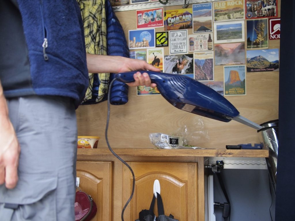 Our solar-powered handheld vacuum come in handy very often