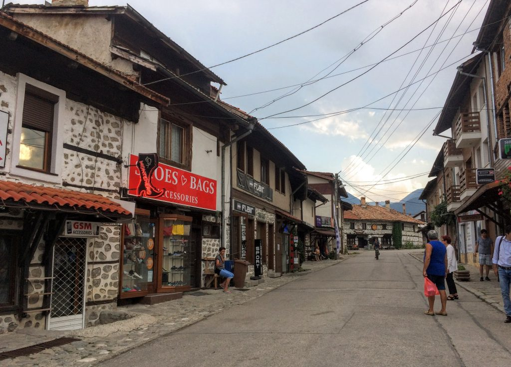 The commercial center of Bansko