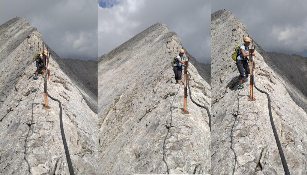 Me navigating Koncheto ridge, Pirin National Park.
