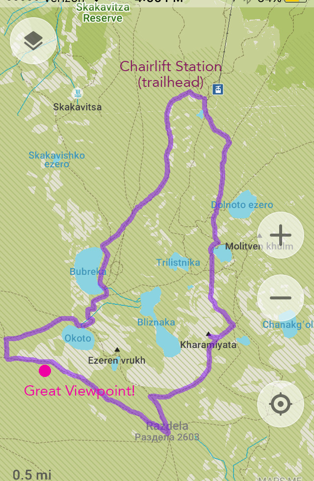 7 Rila Lakes trail map