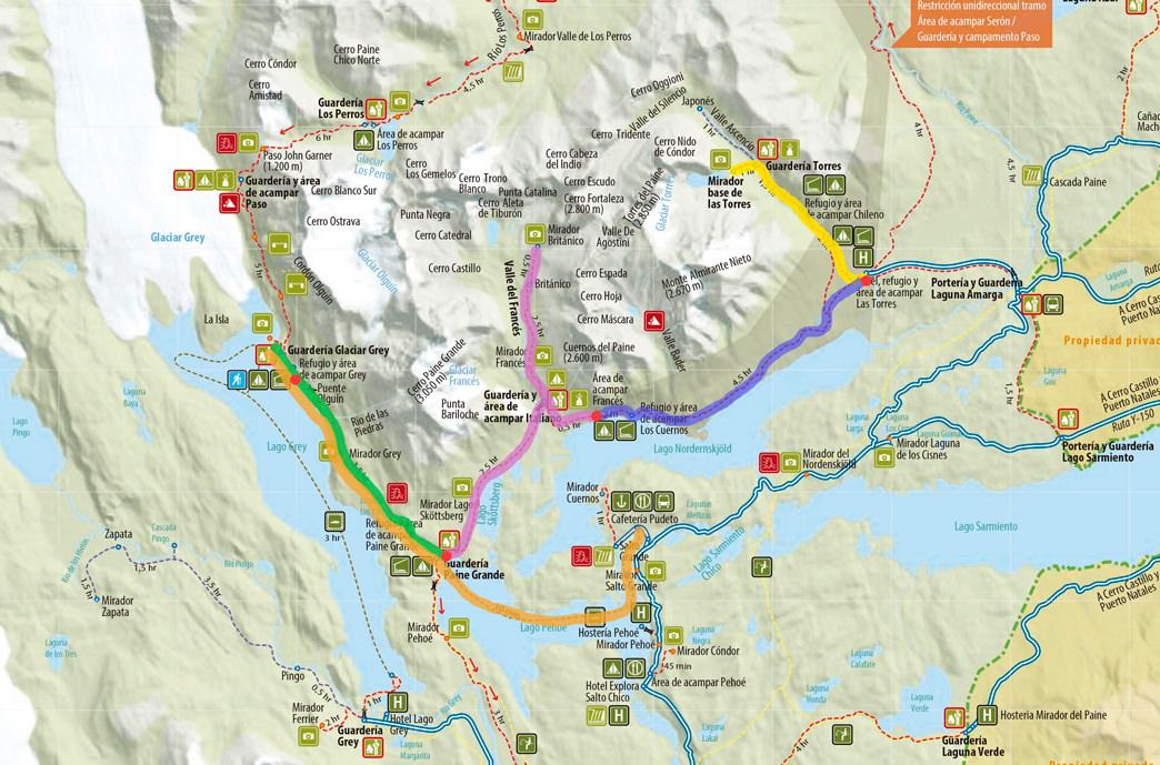 Day by day breakdown of W Trek (East to West)